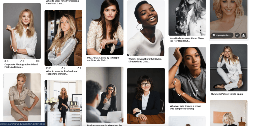 what to wear for Professional Headshot session - women